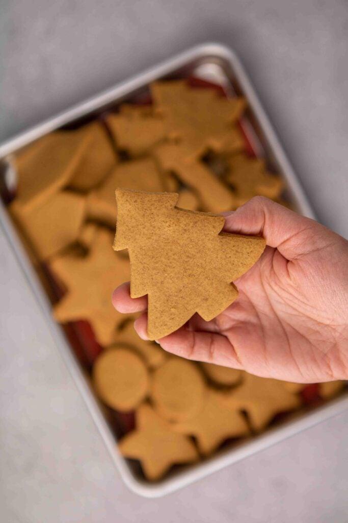 Cutout gingerbread cookies