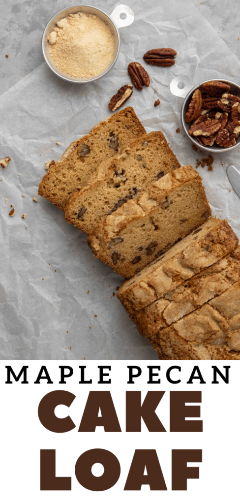 Collage of the maple pecan loaf for Pinterest