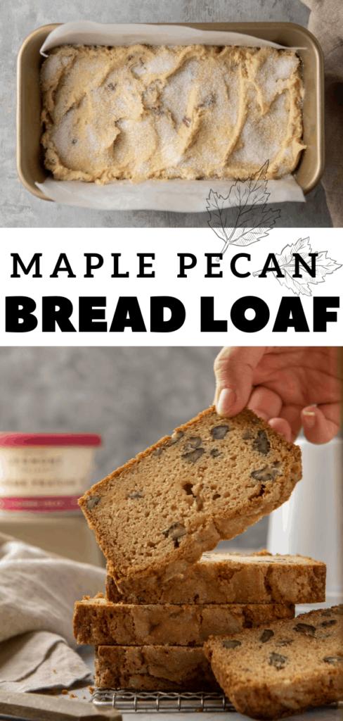 Maple pecan sweet bread photography
