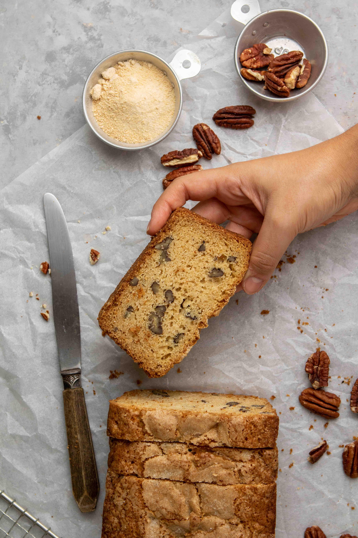 Moist maple pecan bread