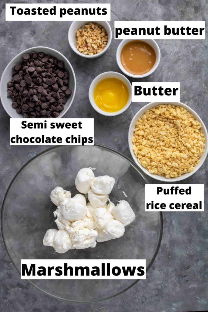 Ingredients Peanut butter chocolate rice krispies