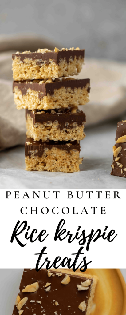 Peanut butter Chocolate rice krispy treats
