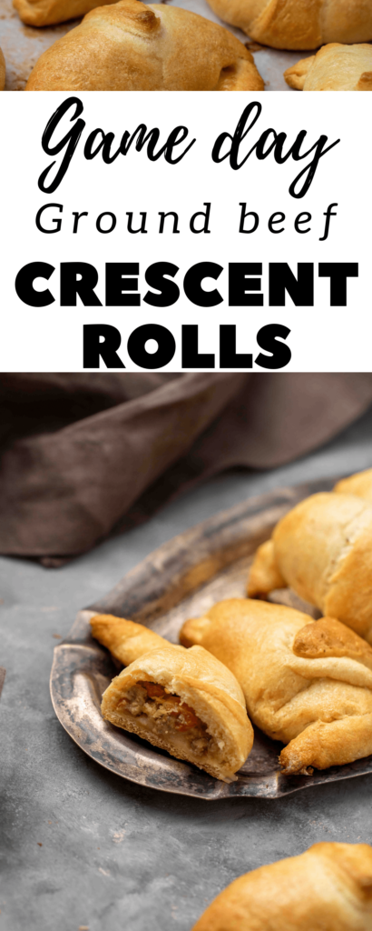 Cheese and ground beef crescent rolls Pinterest