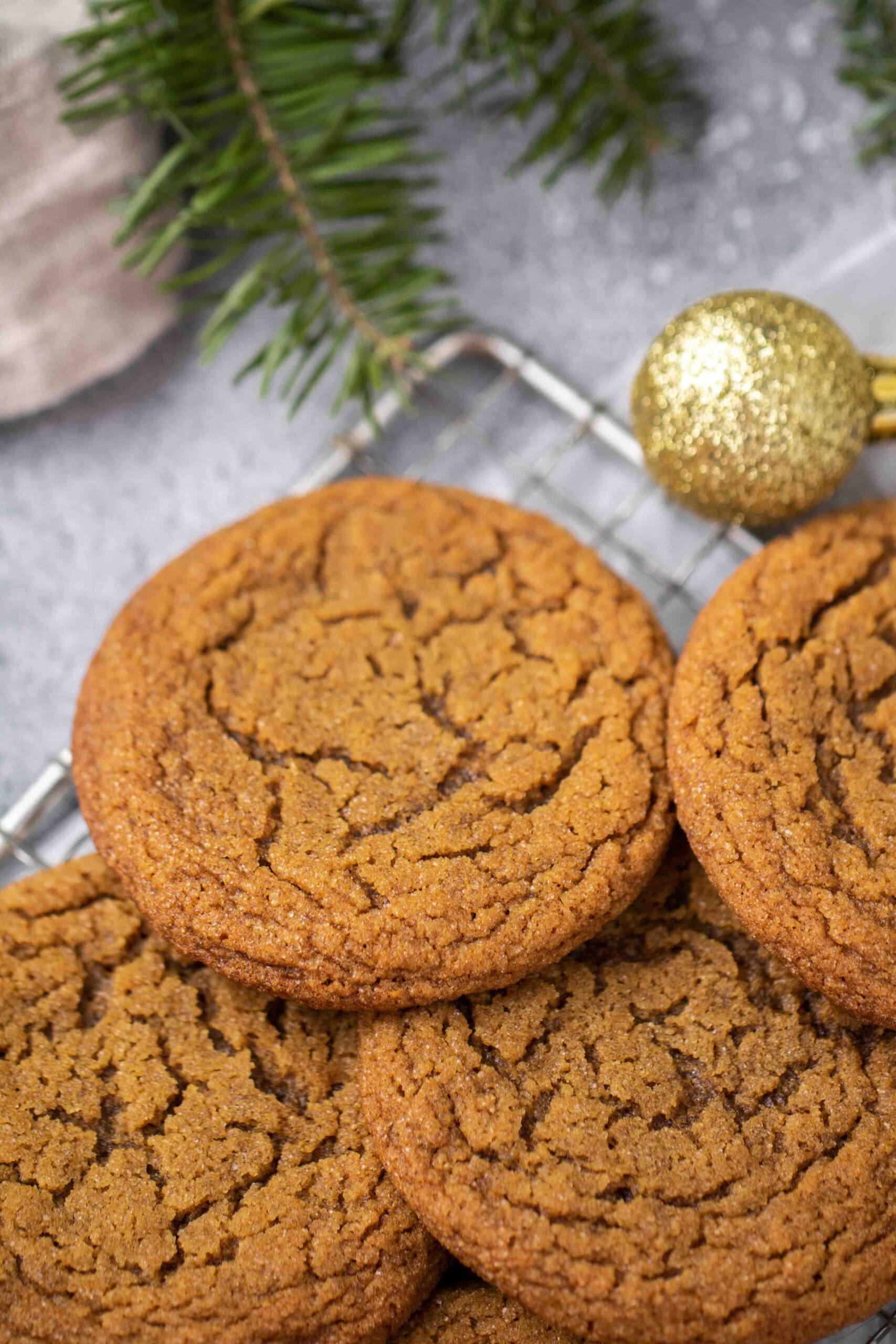 Close up of ginger molasses cookies