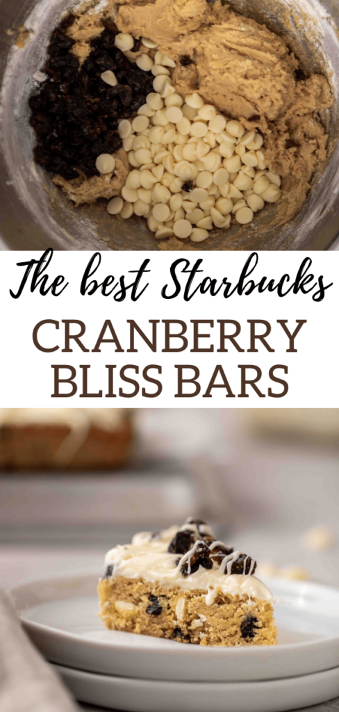 Starbucks copycat cranberry bliss bars