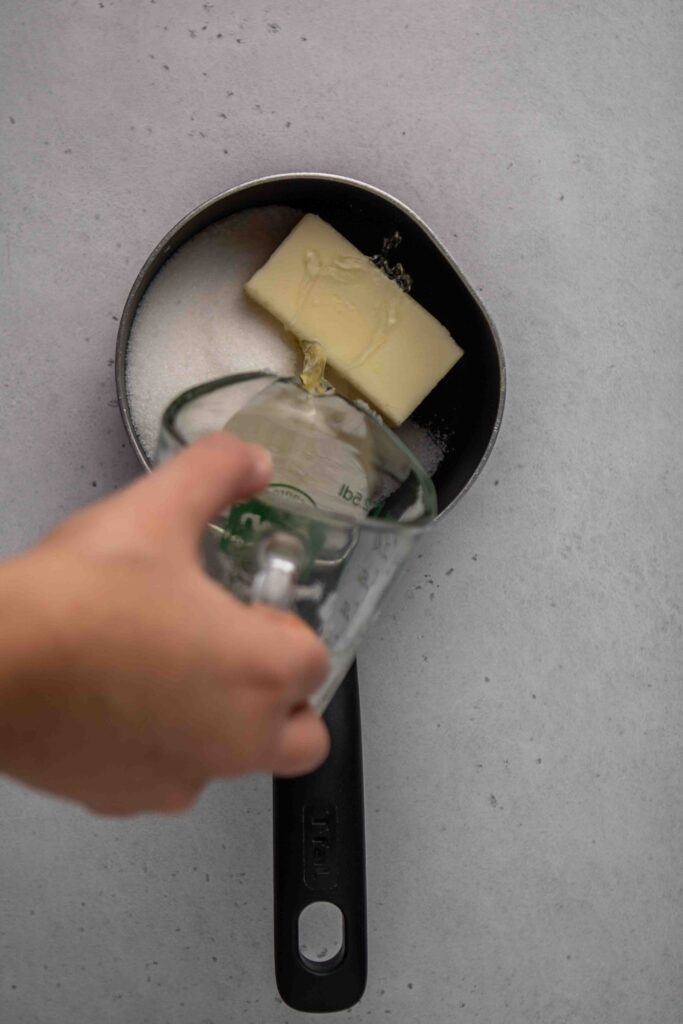 How to make wine butter syrup