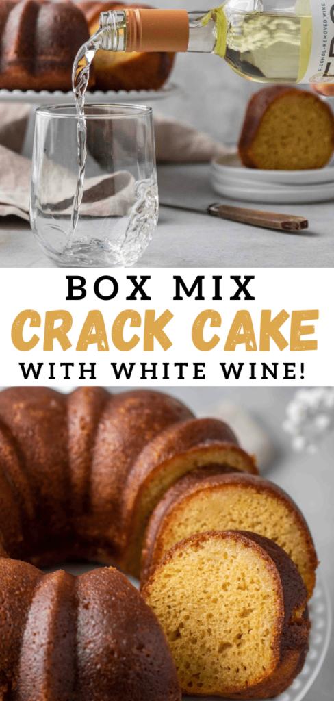 Crack cake with box mix
