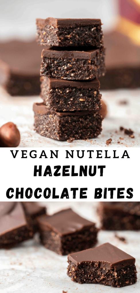 Vegan Nutella chocolate hazelnut bars