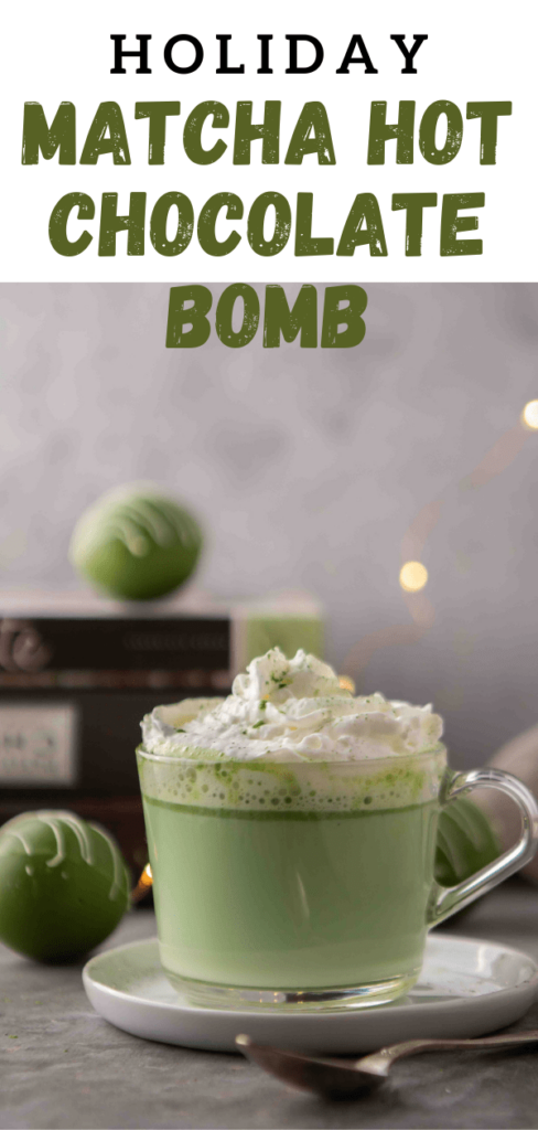 Matcha hot chocolate bomb recipe