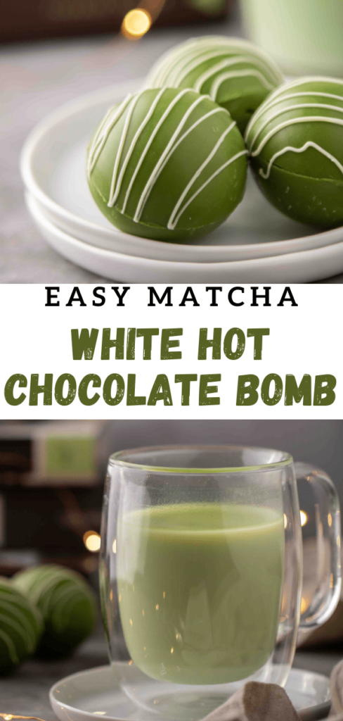 Matcha hot chocolate