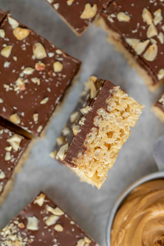 The best peanut butter chocolate rice krispie