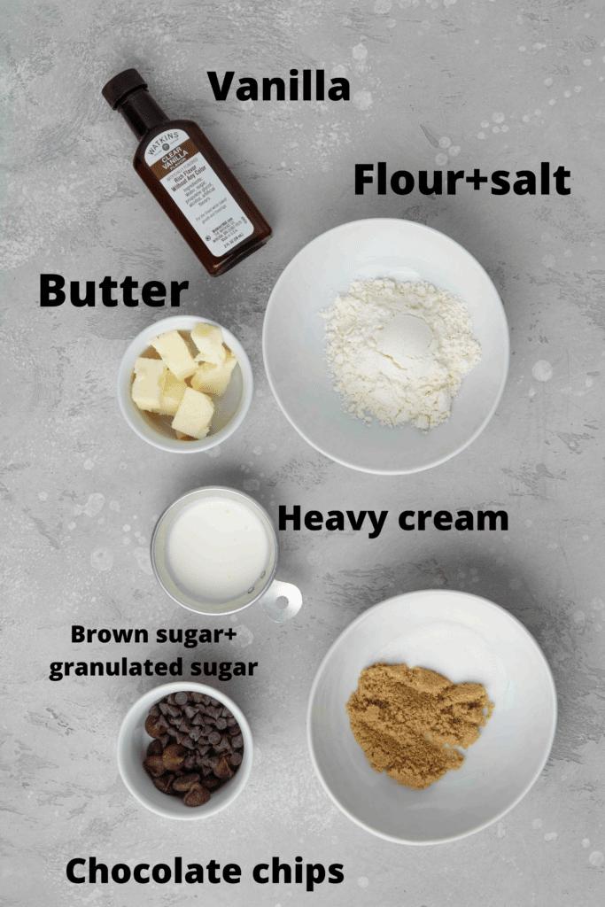single serve edible cookie dough ingredients