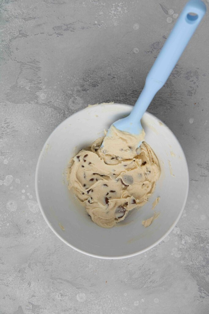 Step by step to make edible cookie dough for one