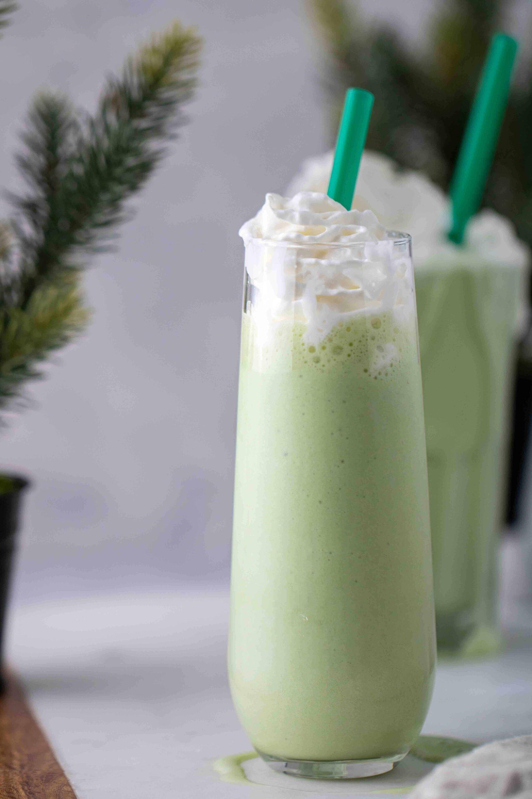 Green tea matcha frappuccino