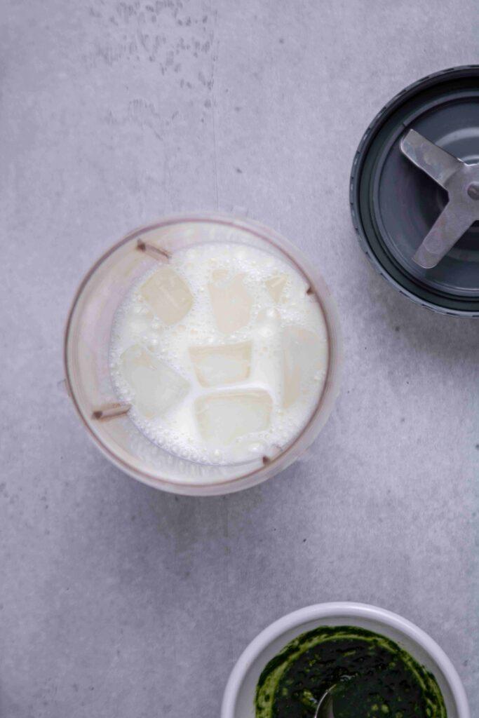 Homemade matcha frappuccino