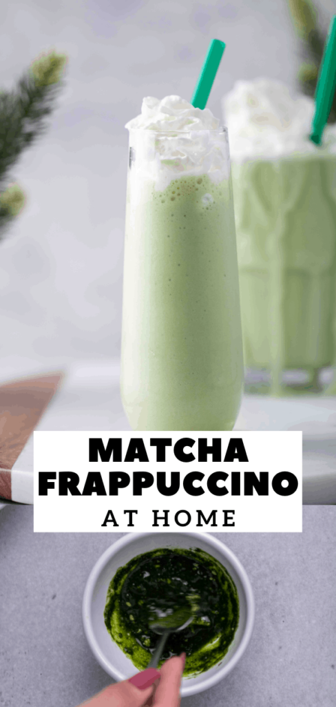 Matcha green tea Starbucks frappuccino