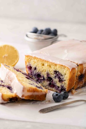 Moist lemon blueberry cake