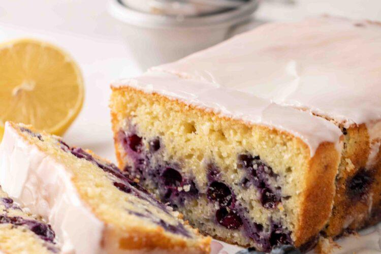 Moist lemon blueberry cake