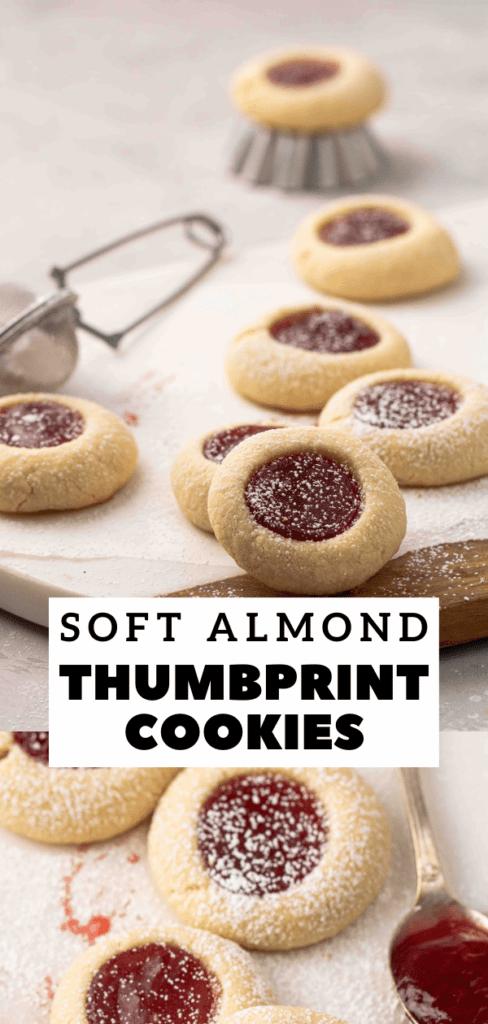 Almond flour thumbprint cookies with jam