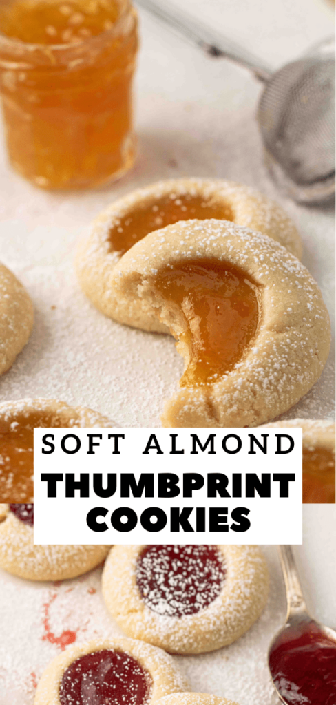 Almond flour thumbprint cookies with jam
