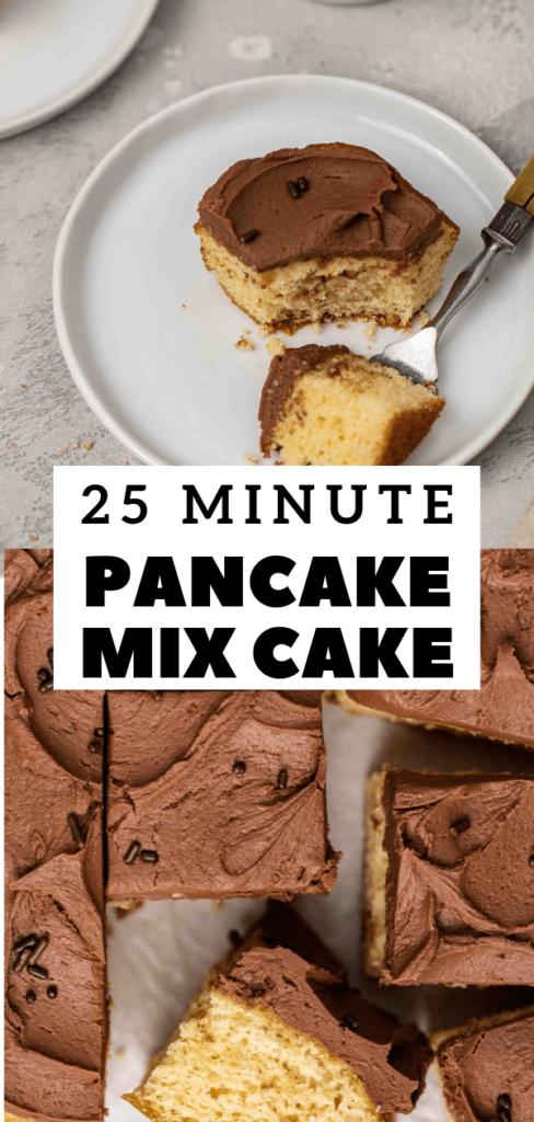 Vanilla pancake mix cake