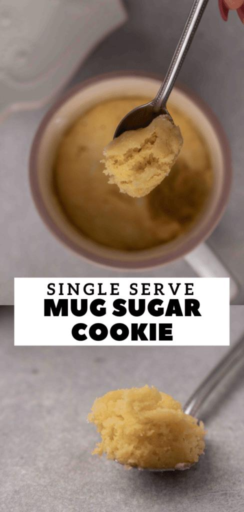 sugar cookie mug cake