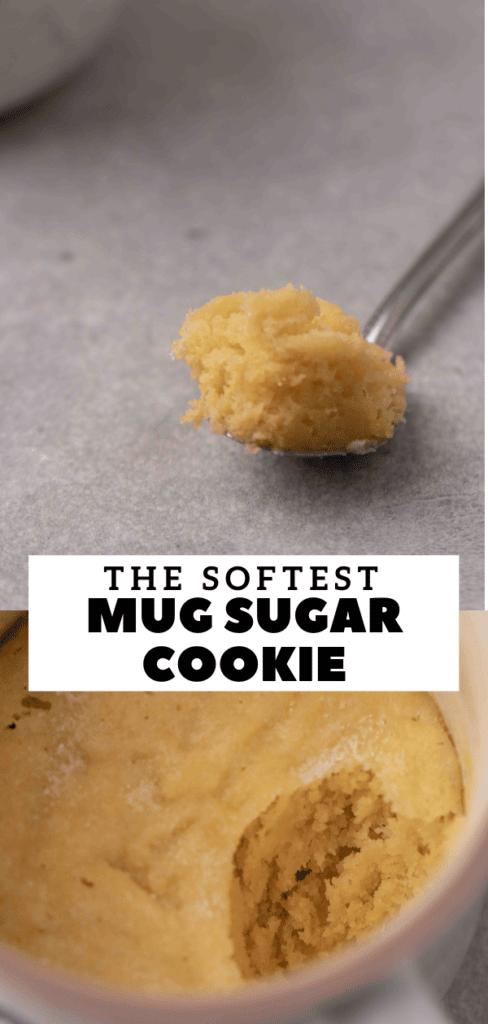 sugar cookie mug cake for Pinterest