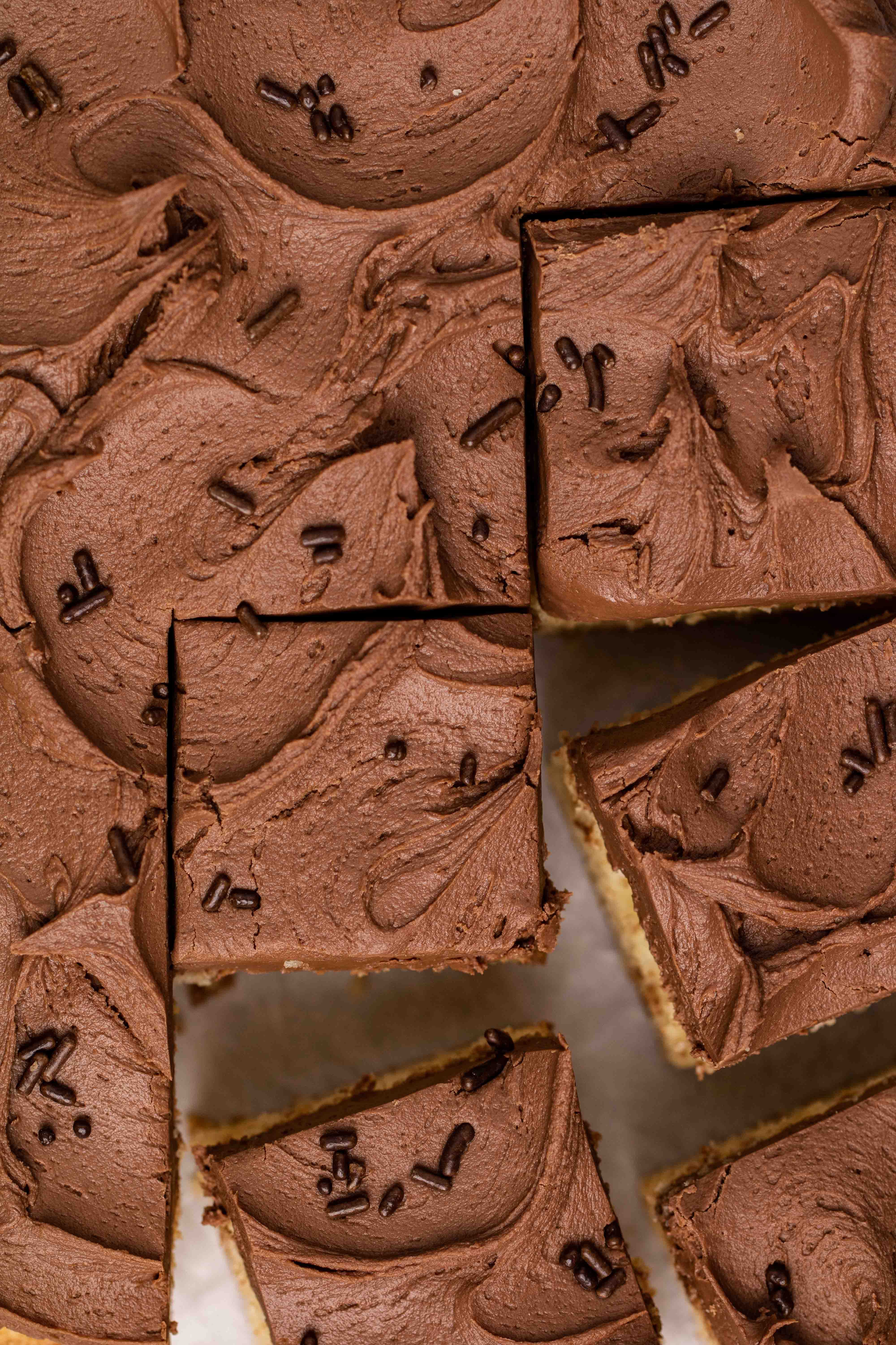 Overhead shot photography of chocolate frosting