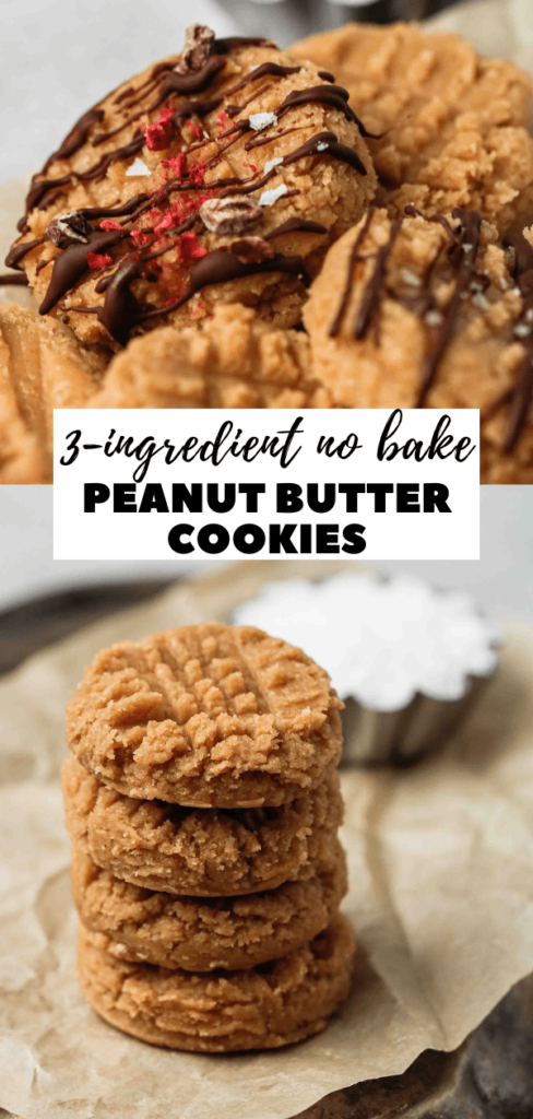 Vegan peanut butter cookies no bake
