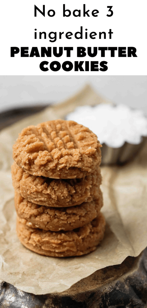 3 ingredient no bake peanut butter cookies