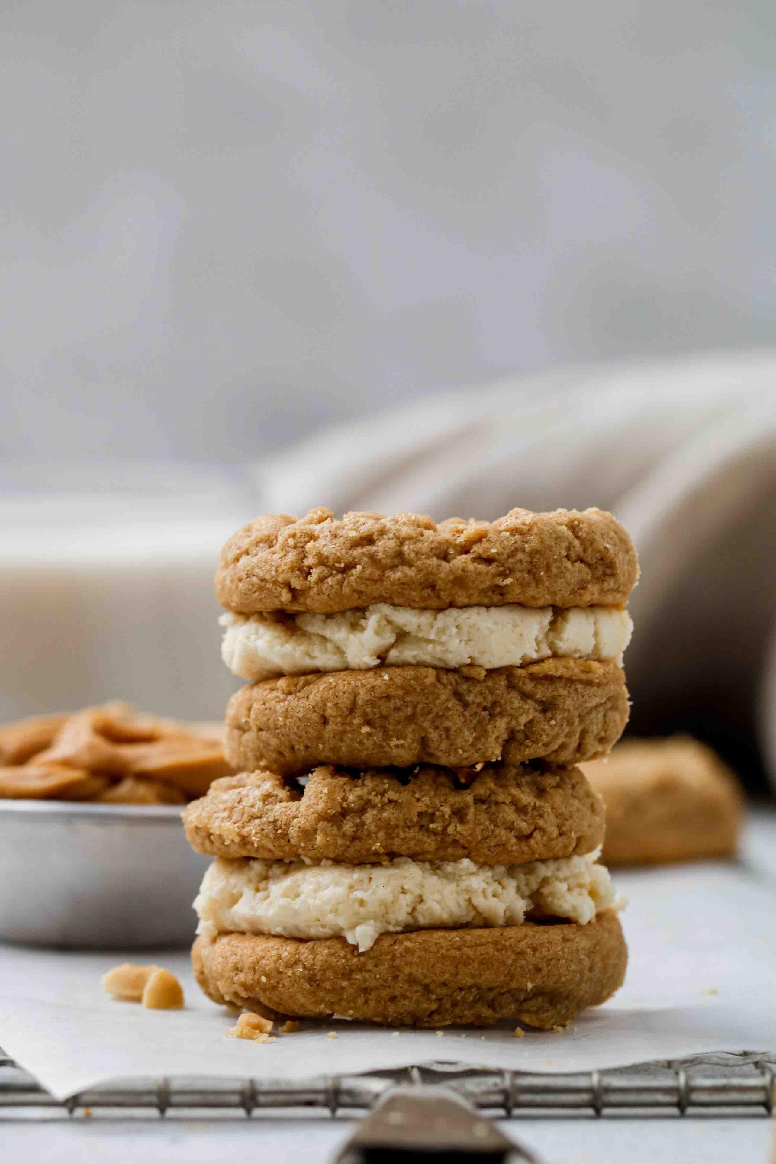 Stuffed peanut butter cookie
