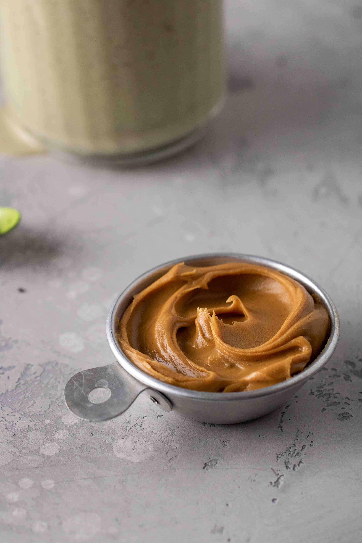 Peanut butter close up