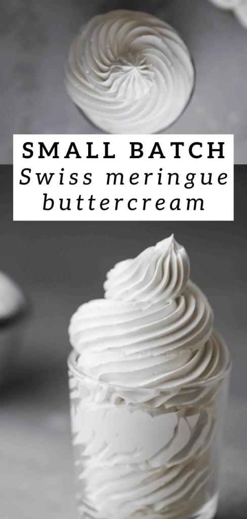Small batch Swiss meringue buttercream