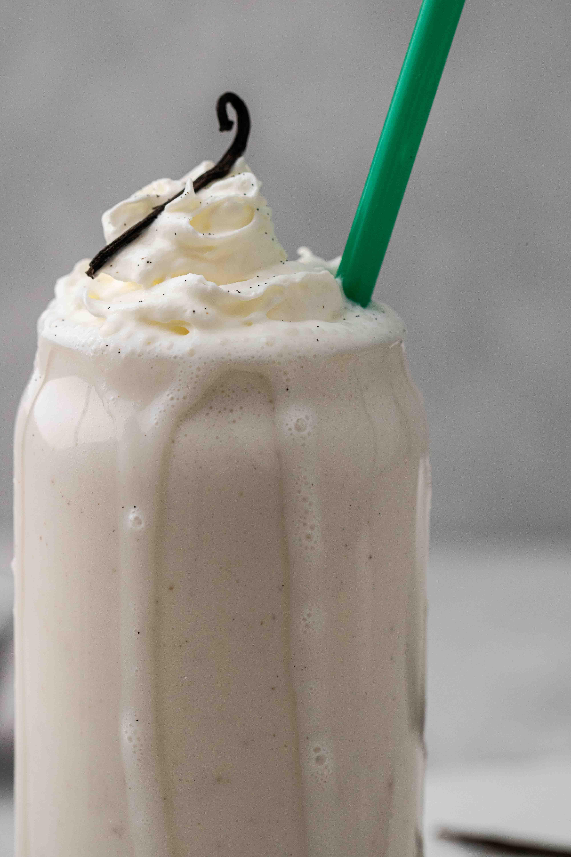 Close up of Starbucks vanilla bean c