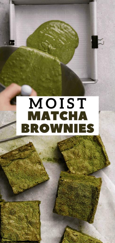 Green tea brownies recipe