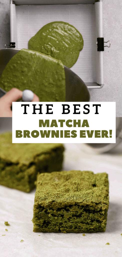 Green tea brownies