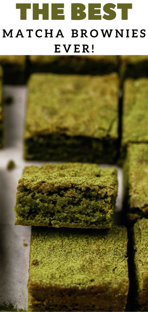 The best matcha brownies ever!