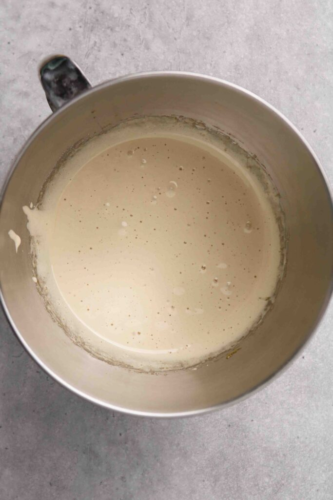 Cream the eggs and sugar together