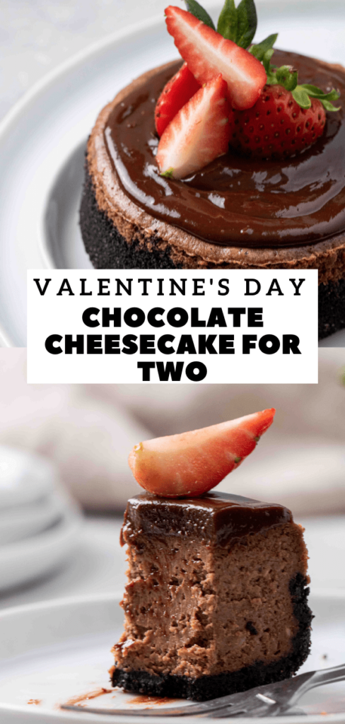 Creamy chocolate cheesecake for two