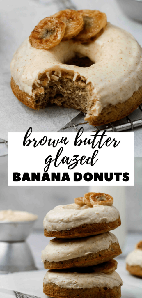 Brown butter glazed donuts