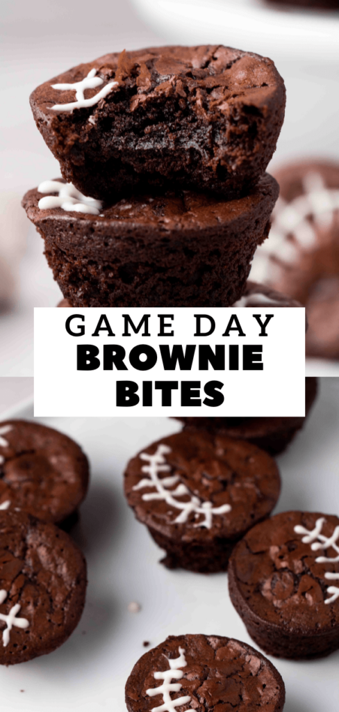 Game day brownie bites