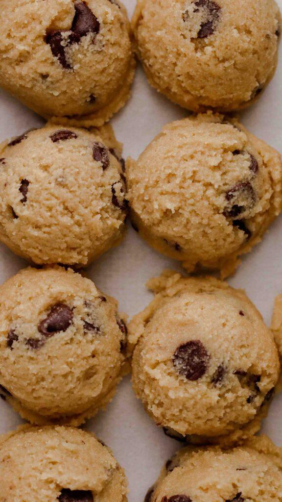 Almond flour cookie dough balls