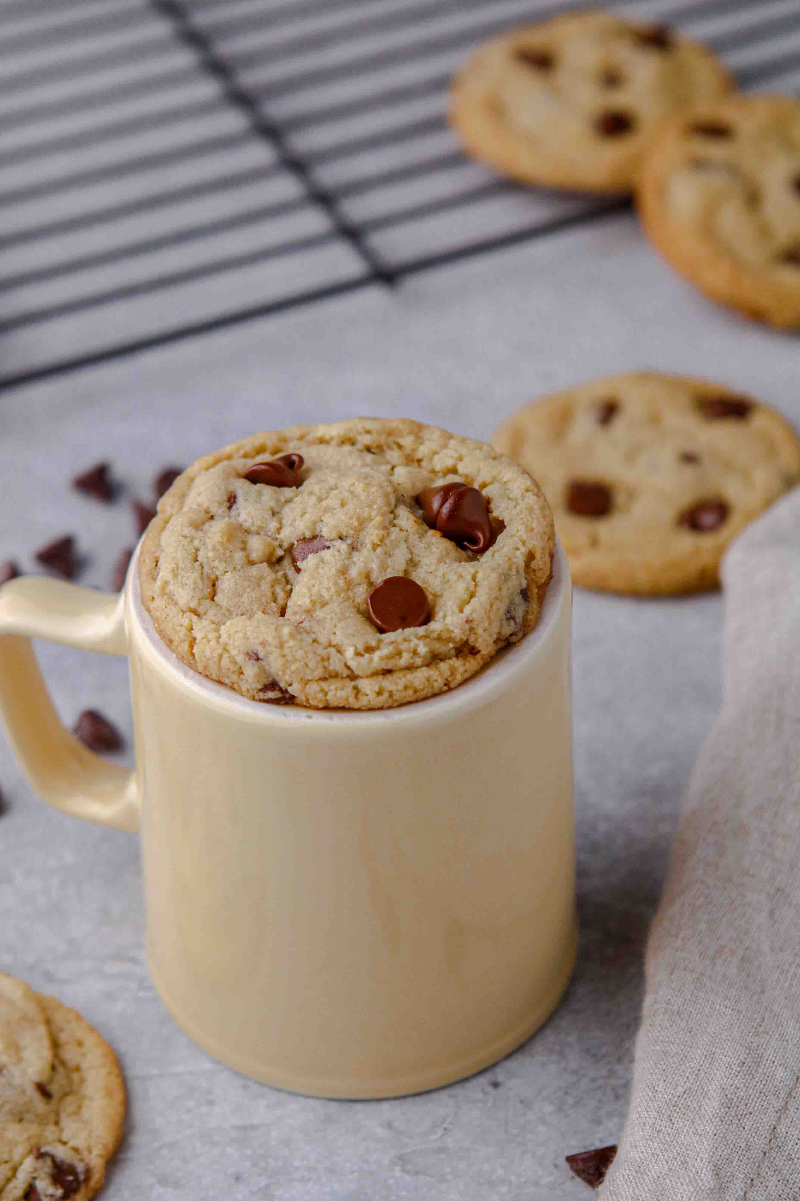 Soft and chewy almond flour chocolate chip cookies