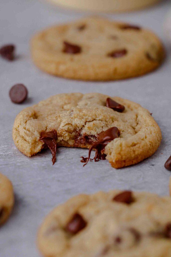 ooey gooey almond flour chocolate chip cookies
