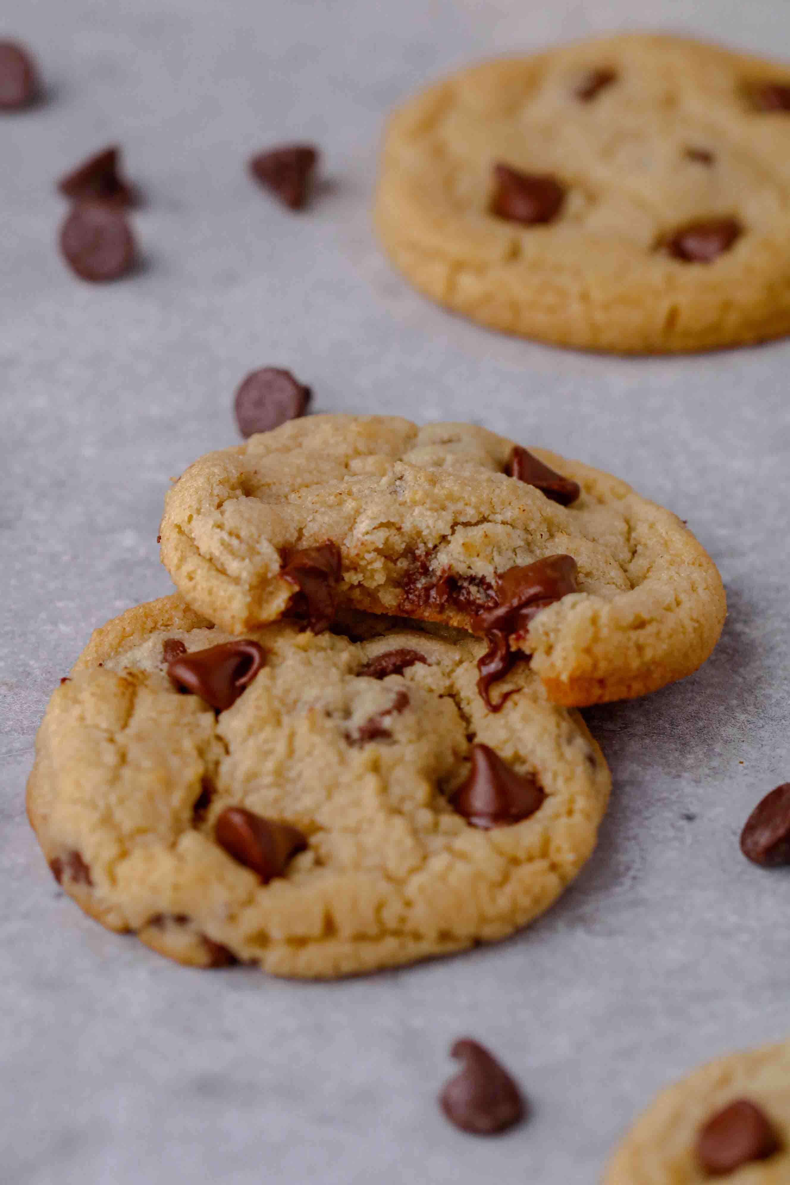 Chocolate chip cookie dough with almond flour