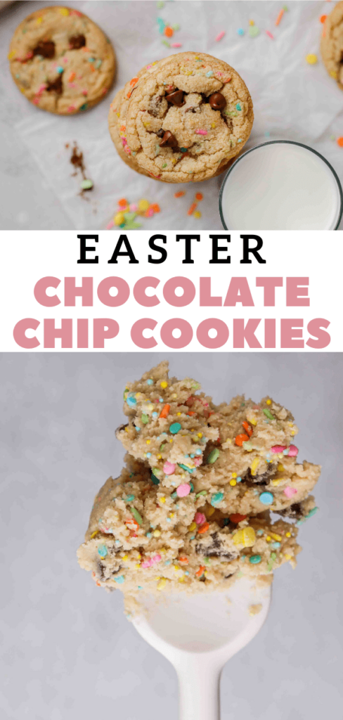 Easy spring chocolate chip cookies