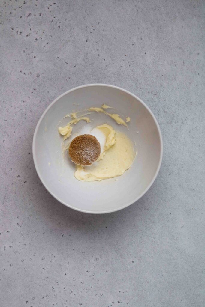 Cream the butter and the sugar together