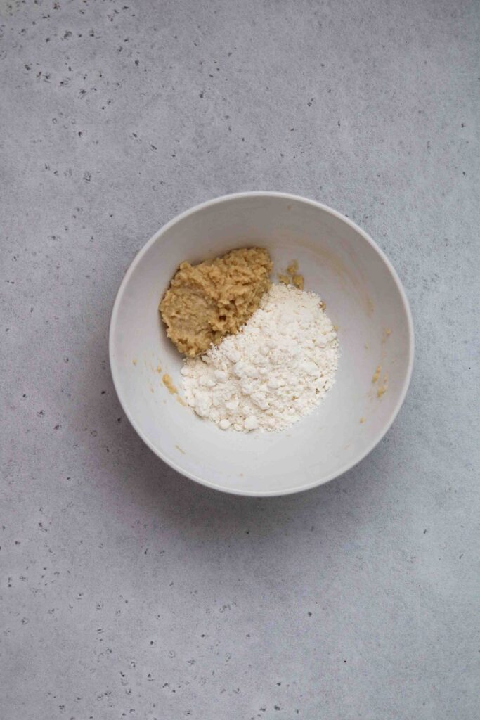 Add the flour to the butter mixture
