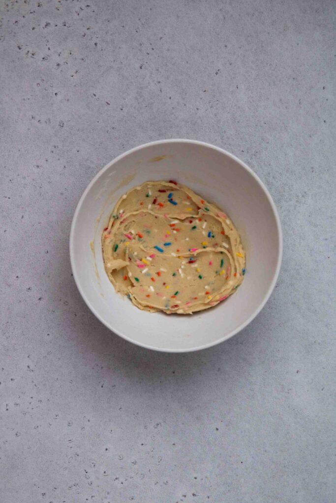Edible sprinkles cookie dough