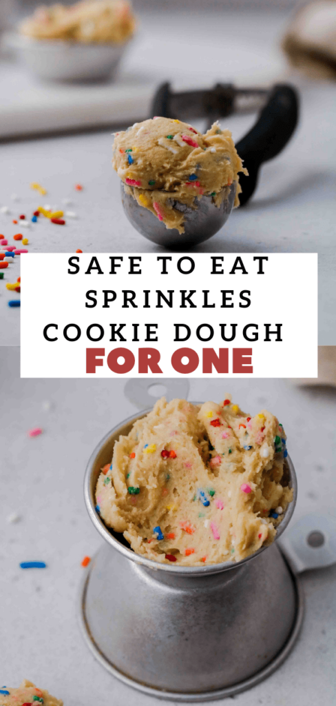 Edible sprinkles cookie dough for one